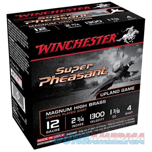 Winchester Super Pheasant 12ga 2.75'' 1-3/8oz #4 25/bx  Non-Guns > Ammunition