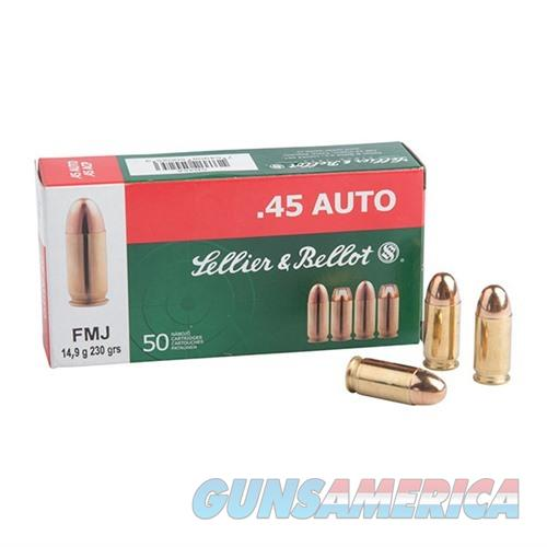 Sellier & Bellot 45 Auto 230 Gr FMJ 50/bx  Non-Guns > Ammunition