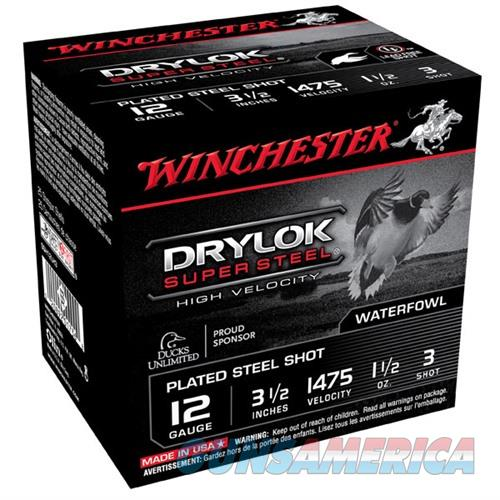 WINCHESTER DRYLOK SUPER STEEL HV 12GAUGE 3.5' 1-1/2OZ #3 25/BX (2  Non-Guns > Ammunition