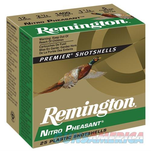 Remington Nitro Pheasant 12ga 2.75'' 1-3/8oz #4 25/bx  Non-Guns > Ammunition