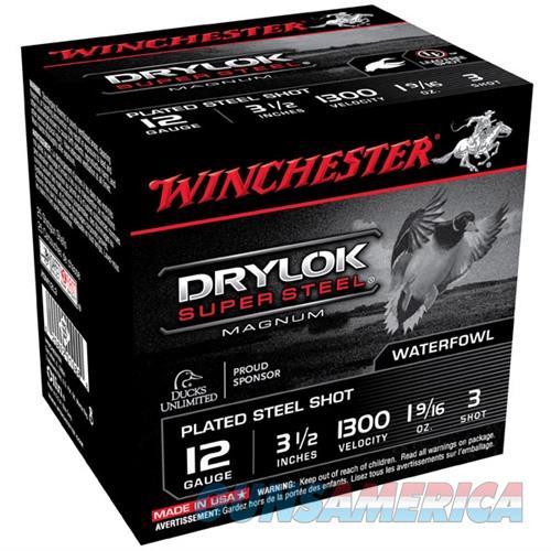 Winchester Drylok Super Steel Mag 12ga 3.5'' 1-9/16oz #3 25/bx  Non-Guns > Ammunition