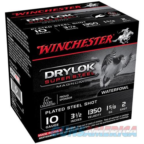 Winchester Drylok Super Steel Mag 10ga 3.5'' 1-5/8oz #2 25/bx  Non-Guns > Ammunition