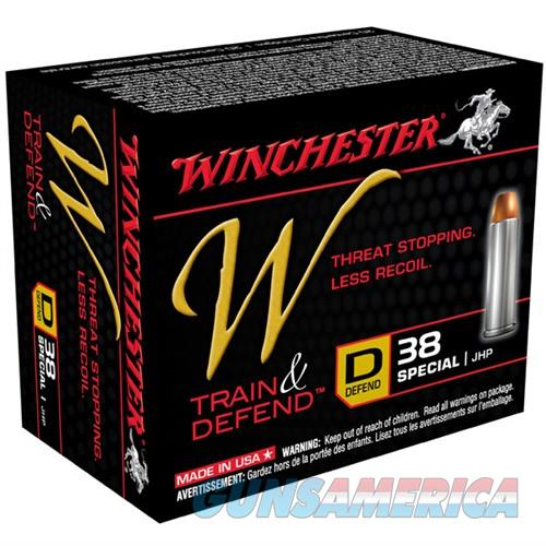Winchester W Train & Defend 38 Spl 130gr JHP 20/bx  Non-Guns > Ammunition