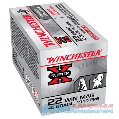 Winchester Ammo 22 Winchester Mag JHP 40gr JJP  Non-Guns > Ammunition