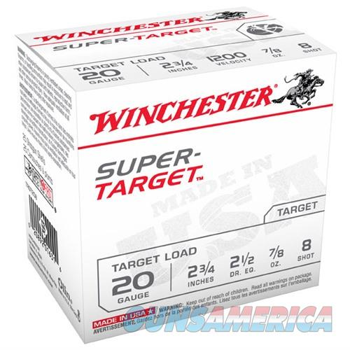 WINCHESTER AMMO 20 GAUGE 2 3/4IN 7/8OZ SUPER TARGET #8 (25 ROUNDS  Non-Guns > Ammunition