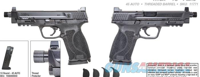 M&P 2.0 Threaded Bbl 45 Acp 5.12'' Blk 10rd  Guns > Pistols > Smith & Wesson Pistols - Autos > Polymer Frame
