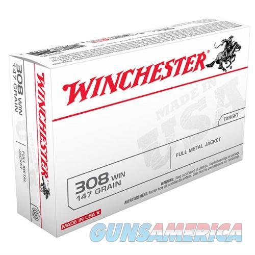 Winchester Ammo 308 Winchester USA 147gr FMJ-BT  Non-Guns > Ammunition