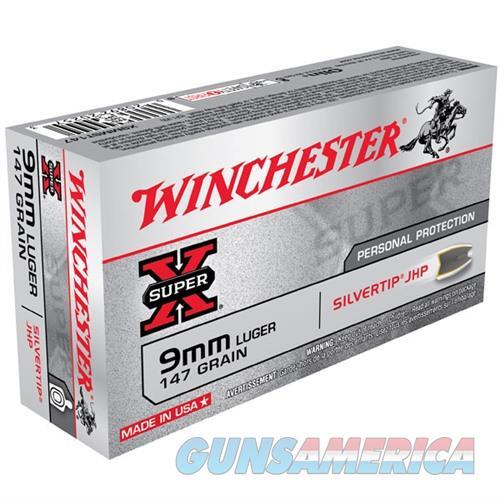 Winchester Super-X Silvertip 9mm 147gr JHP 50/bx  Non-Guns > Ammunition
