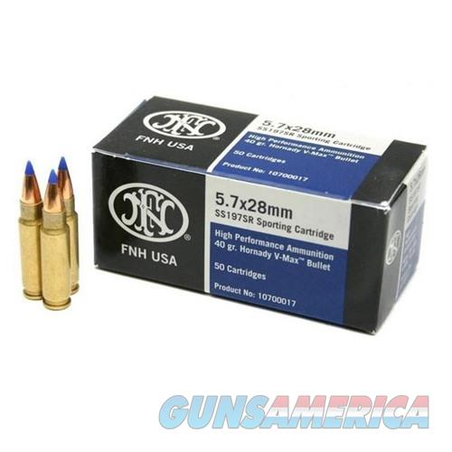 FN 5.7x28 Ammo 40gr V-MAX 50/bx  Non-Guns > Ammunition
