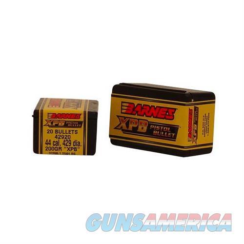 Barnes Bullet .429dia 200gr X-Pistol Cannelured  Non-Guns > Reloading > Components > Bullets
