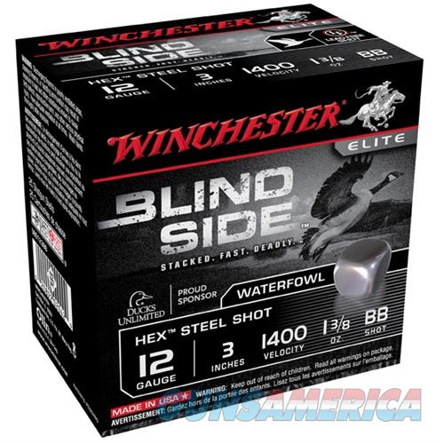 Winchester Ammo Blind Side 12ga 3'' #BB 1-3/8oz 100/bx  Non-Guns > Ammunition