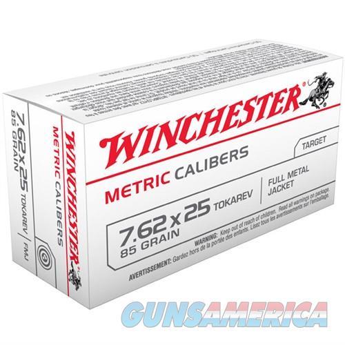 Winchester 7.62x25 Tokarev 85gr FMJ 50/bx  Non-Guns > Ammunition