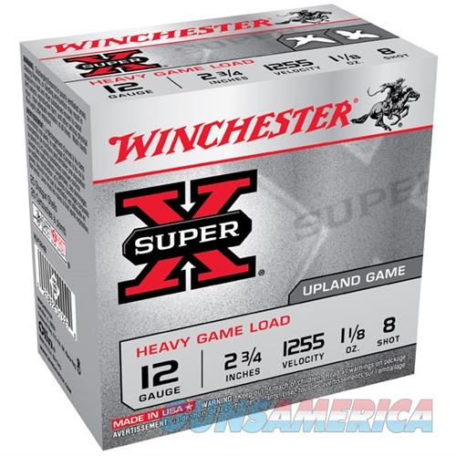 Winchester Super-X Heavy Game Load 12ga 2.75'' 1-1/8 oz. #8 25/b  Non-Guns > Ammunition