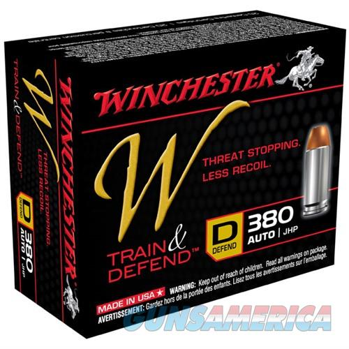 Winchester Train & Defend 380 ACP 95gr JHP 20/bx  Non-Guns > Ammunition