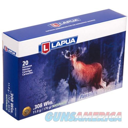 Lapua Ammo 308 Win NATURALIS 170gr Solid 20/bx  Non-Guns > Ammunition
