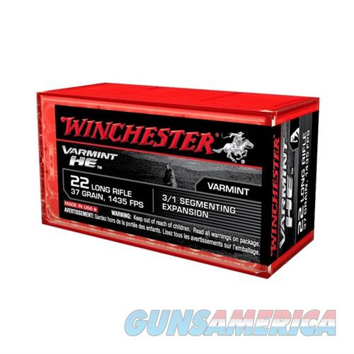 Winchester Varmint HE 22 LR 37gr Segmenting Expansion 50/bx  Non-Guns > Ammunition
