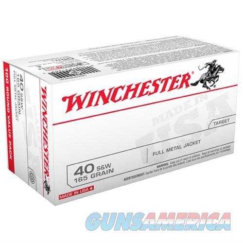 Winchester Ammo 40 S&W 165 Gr FMJ Bulk Pack 100/bx  Non-Guns > Ammunition