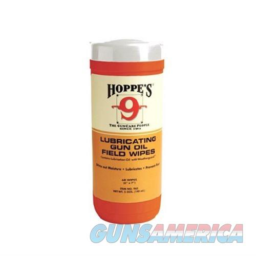 Hoppes 9 Lubricating Oil Wipes Orange 60 Wipes  Non-Guns > Gunsmith Tools/Supplies
