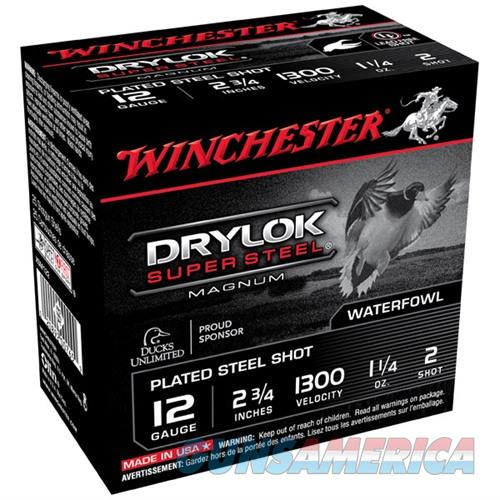 Winchester Drylok Super Steel 12ga 2-3/4'' 1-1/4oz #2 25/bx  Non-Guns > Ammunition