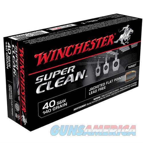 Winchester Ammo 40 S&W 140gr JSP SuperCleanNT  Non-Guns > Ammunition