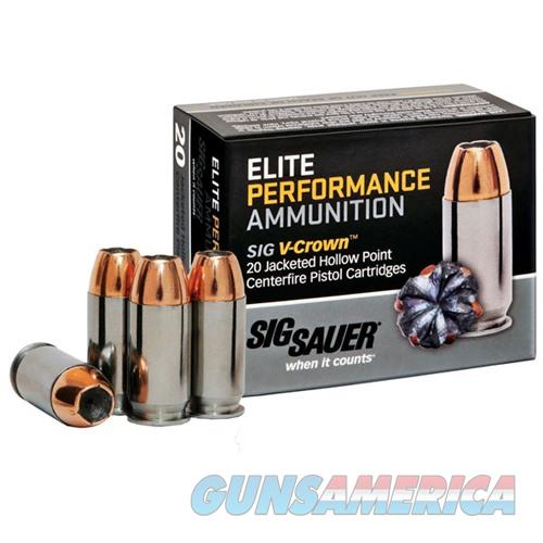 Sig Elite Performance 357 Sig 125gr V-Crown JHP 20/bx  Non-Guns > Ammunition