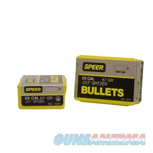 Speer Bullet .25 .257 87gr Sptzr SP  Guns > Rifles > Thompson Center Rifles > Contender