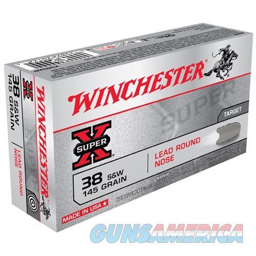 Winchester Ammo 38 S&W Super-X 145gr Lead LR  Non-Guns > Ammunition