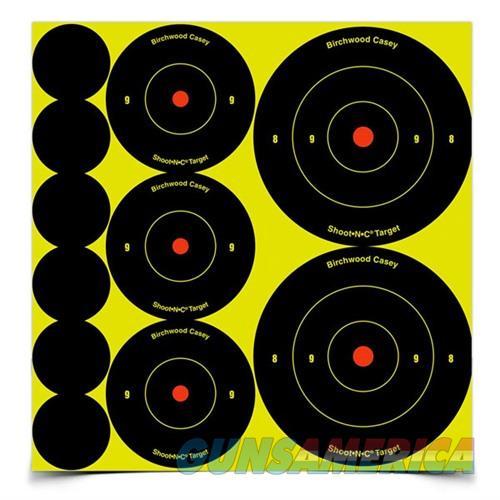 Shoot-N-C Ass't 1'', 2'' & 3'' Bull's-Eye Target 12 Sheet Pack  Non-Guns > Targets > Clay Throwers
