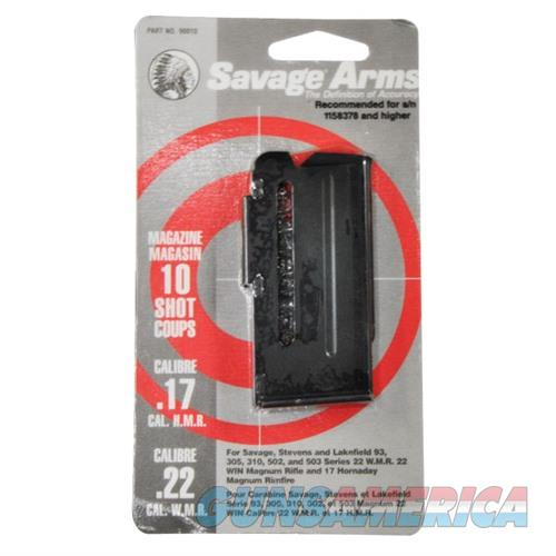 Savage Magazine Assembly 93 Series 10rd 22WMR/17HMR Blued  Non-Guns > Reloading > Components > Other