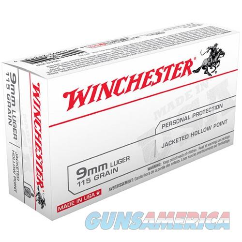 Winchester Ammo 9mm Luger USA 115gr JHP  Non-Guns > Ammunition