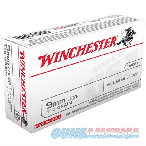 Winchester USA 9mm 115gr FMJ 50/bx  Non-Guns > Ammunition