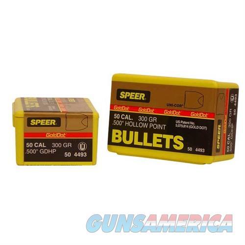 Speer Bullet 50AE .500 300g GDHP GoldDot HP  Non-Guns > Reloading > Components > Bullets