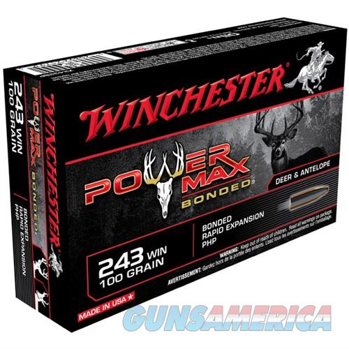 Winchester Ammo 243 Winchester 100gr Power Max bonded super-x  Non-Guns > Ammunition