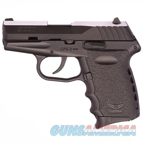 Sccy CPX-2 CB 9mm Black (No Manual Safety)  Guns > Pistols > SCCY Pistols > CPX2