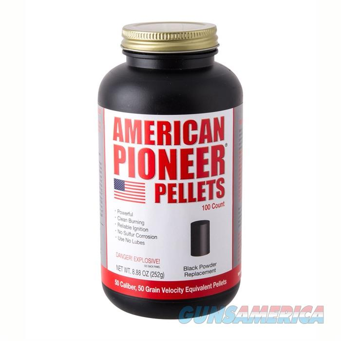 American Pioneer 50cal Pellets 100/Container 12/Case  Non-Guns > Reloading > Components > Other
