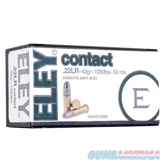 Eley Contact 22LR, 42gr Round Nose, 50rds/Box  Non-Guns > Ammunition
