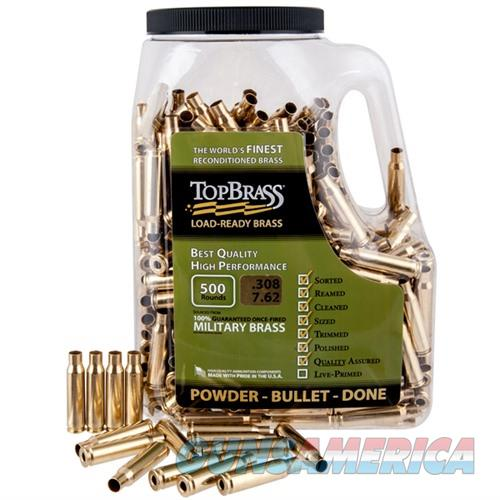 Top Brass .308 Win 500Ct Bag  Non-Guns > Reloading > Components > Brass