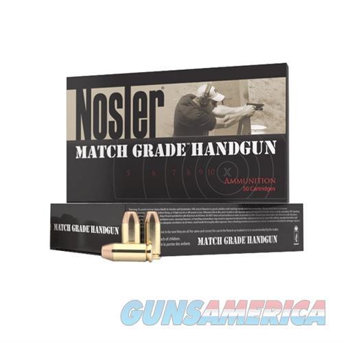 Nosler Match Grade Ammo 45 ACP 185gr JHP 50/bx  Non-Guns > Ammunition