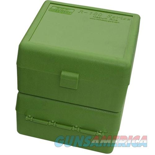 MTM  Ammo Box 100 Round Flip-Top 223 204 Ruger 6x47 Green  Non-Guns > Military > Cases/Trunks