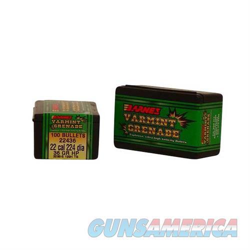 Barnes Bullet 22Cal .224Dia 36gr Varmint Grenade  Non-Guns > Reloading > Components > Bullets