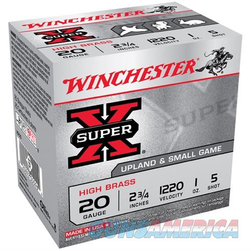 Winchester Super-X High Brass 20ga 2.75'' 1 oz. #5 25/bx  Non-Guns > Ammunition