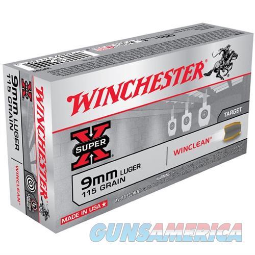 Winchester Super-X Winclean 9mm 115gr 50/bx  Non-Guns > Ammunition