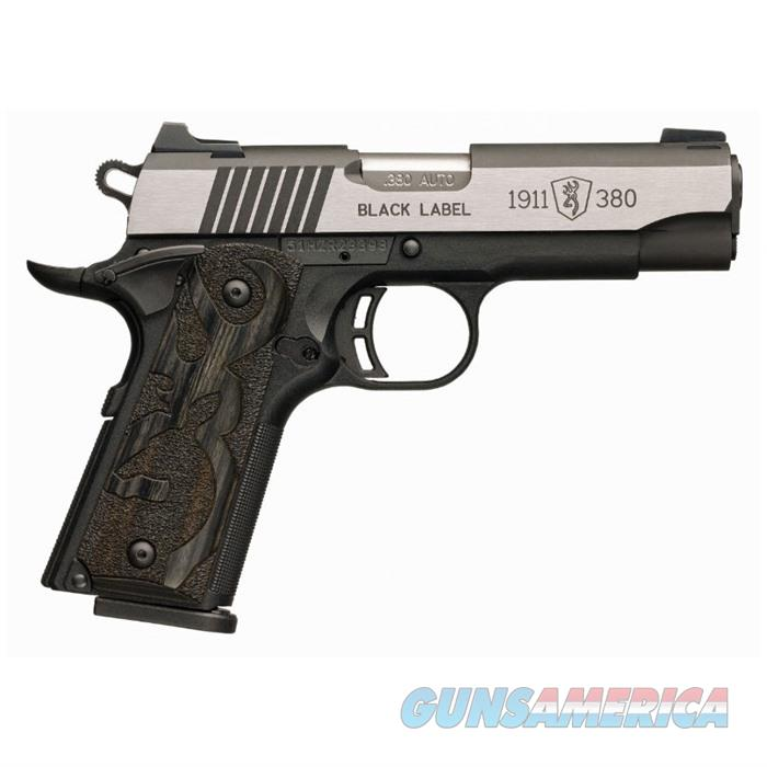 Browning 1911 Black Label Medallion 380 8rd 3 5/8''bbl  Guns > Pistols > Browning Pistols > Other Autos