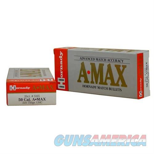 Hornady 50 CAL .510 750 GR A-MAX  Non-Guns > Reloading > Components > Bullets