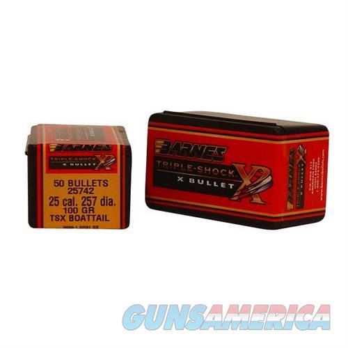 Barnes Bullet .257dia 100gr TSX Boattai  Non-Guns > Reloading > Components > Bullets