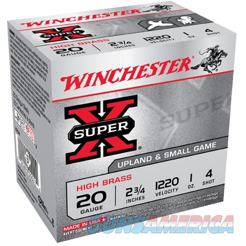 Winchester Ammo 20ga 2.75in Supr-X 2.75d 1oz #4  Non-Guns > Ammunition