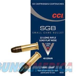CCI Ammo 22 LR Small Game Bullet Ammo 40gr  Non-Guns > Ammunition