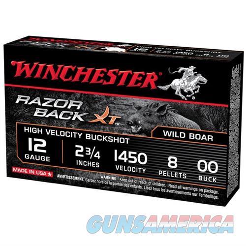 Winchester Razor Back XT 12ga 2-3/4'' #00 Buck 5/bx  Non-Guns > Ammunition