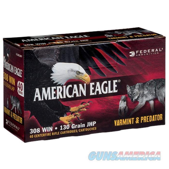 American Eagle 308 130gr JHP V&P 40bx  Non-Guns > Ammunition