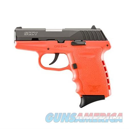 SCCY CPX-2 CBOR 9MM BLACK/ORANGE (NO EXTERNAL SAFETY)  Guns > Pistols > SCCY Pistols > CPX2